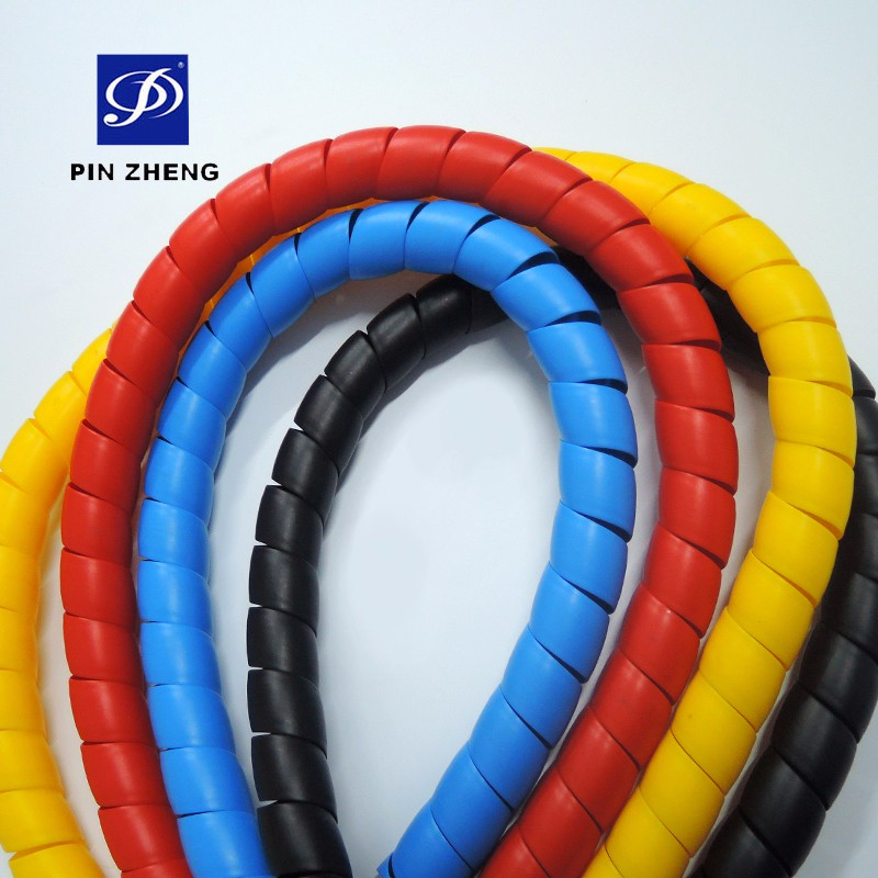 14mm customized multicolor polypropylene pipe/ plastic spiral cable cover
