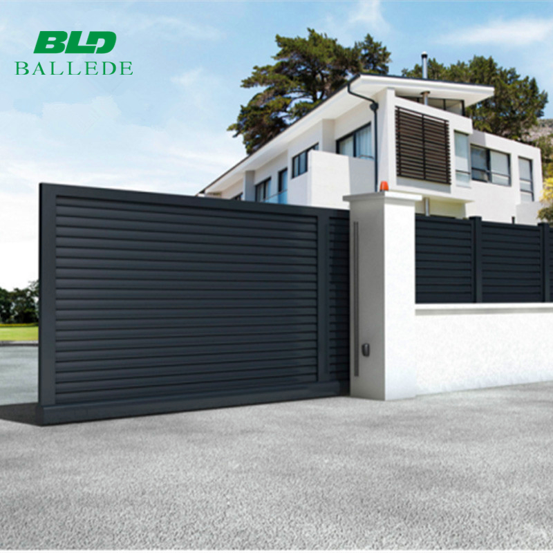 Custom size designs outdoor aluminum automatic house sliding driveway main gate
