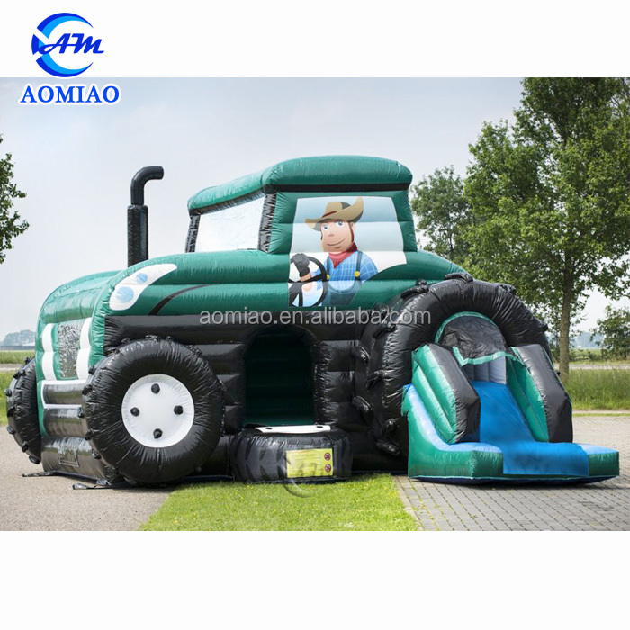 Bouncy castle Tractor Multifun with chute hire inflatable car for sale