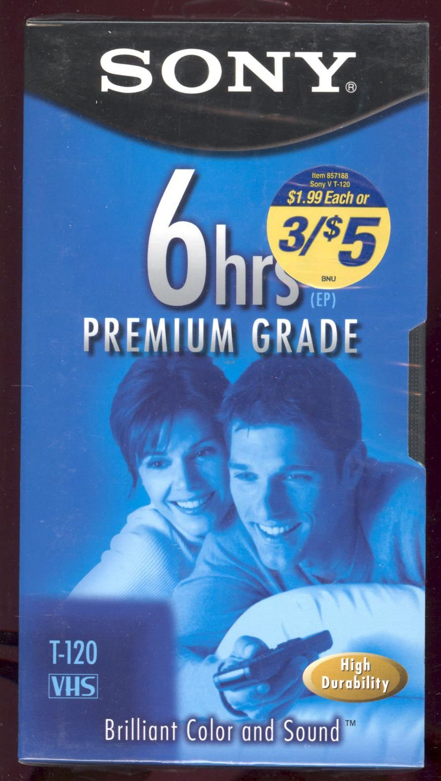 SONY T-120/160 V Premium Grade Videocassettes (SONY T120160V) (Discontinued by Manufacturer)