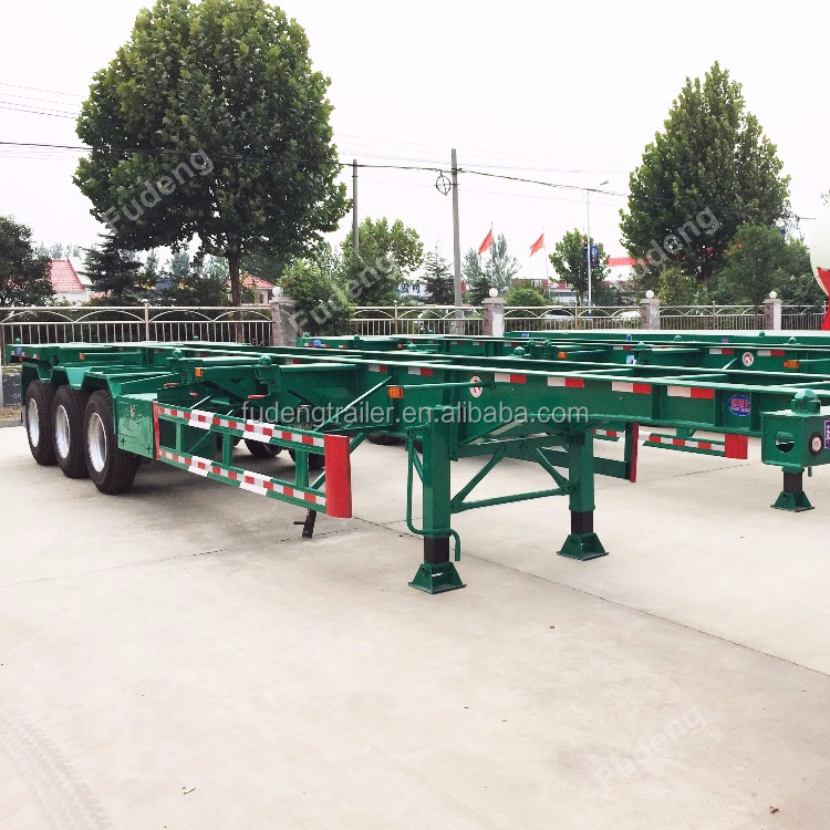 Quality Skelton Truck Trailer Container Carrier Semi Truck