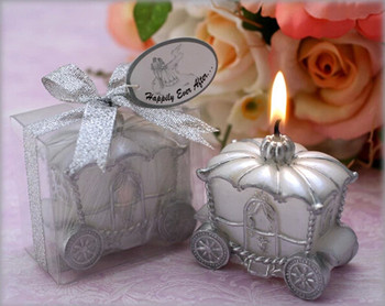 Most Popular Wedding Favor Candles Cute Carriage Candle With Sweet