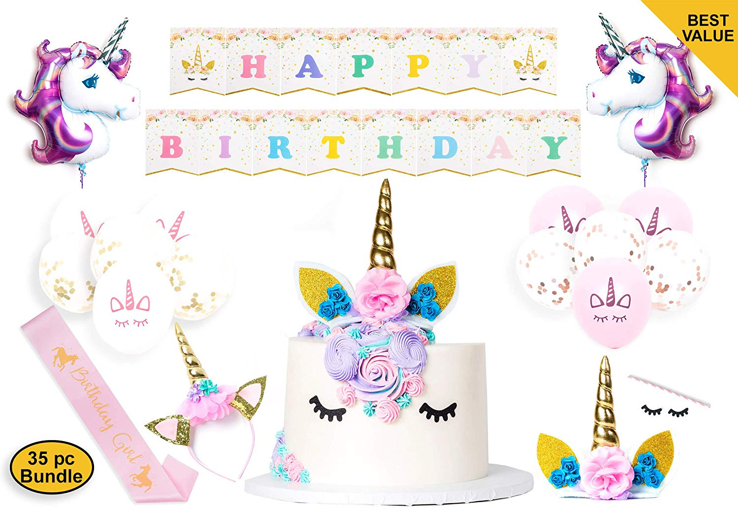 Unicorn Party Supplies Decorations For Girls