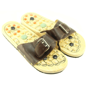 soft wooden foot massage shoes