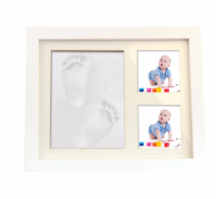 Hotsale Weiß Beliebte Baby Fußabdruck Bilderrahmen Kit New Born Baby ...
