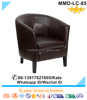 Top Seller Mid Century Style Half Round Leather Club Chair