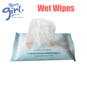 Wholesale Customized Pure Cotton and Alcohol Free Feminine Cleaning Wet Wipes