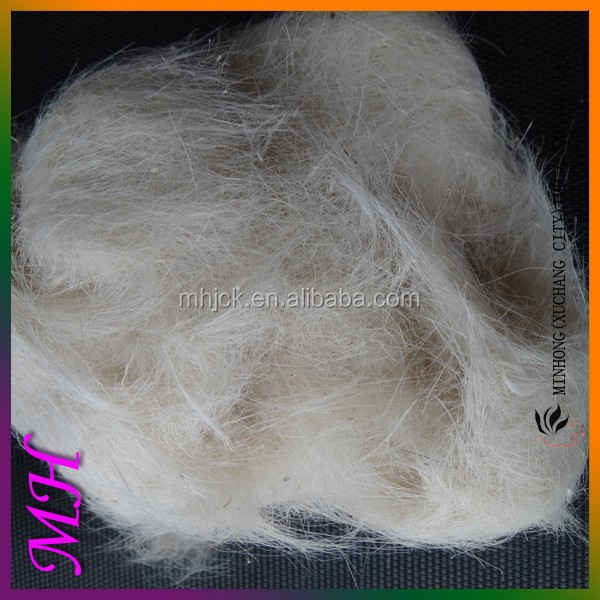 White Chinese Goat Wool Waste