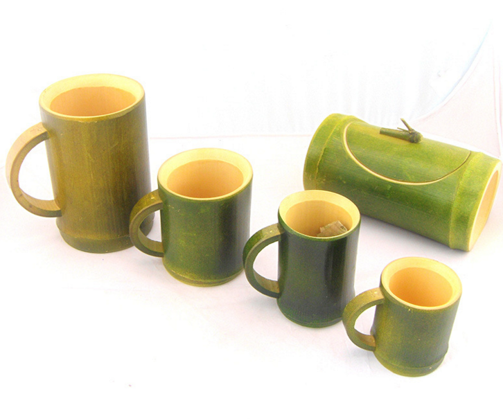 new bamboo cups  mugs natural color for wholesale