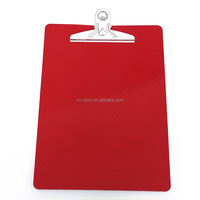 2018 high quality Eco-Friendly pp material A4 size plastic clipboard foam board Red