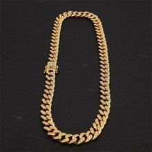 13 мм Ожерелье-браслет в стиле хип-хоп, с кристаллами из горного хрусталя, 13 мм(Китай)