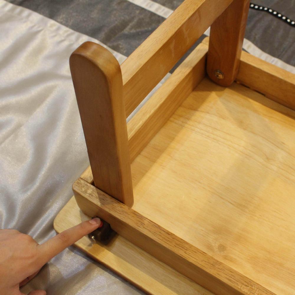 나무 디자인 접는 독서 침대 책상 노트북 침대 연구 테이블-접는 ...
