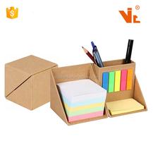 V-TW18 Promotie Gift Opvouwbare <span class=keywords><strong>Cube</strong></span> Box Sticky Memo Notes Set Met Penhouder