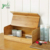 Snacks Sundries Solid Elegant And Safe Wood Creative Storage Bamboo Corner Bread Bin Box