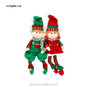 China plush toy stuffed customized cute christmas elves doll elf plush toys