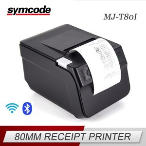 Auto Cutter 80mm Thermal Receipt Printer USB Wifi Bluetooth Ethernet Interface POS Printer with CE FCC ROHS