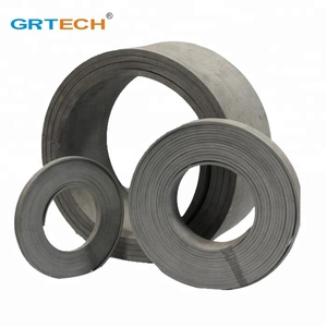 Non-asbestos flexible brake lining roll in rubber