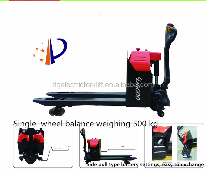 Hot Sale 1500kg Small Electric Forklift, Electric Pallet Truck stand on power pallet jack