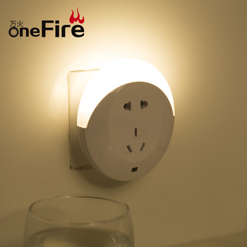 Onefire Hot Light Up Outlet Covers Electrical Cover Led Night Usb Charger Lamp