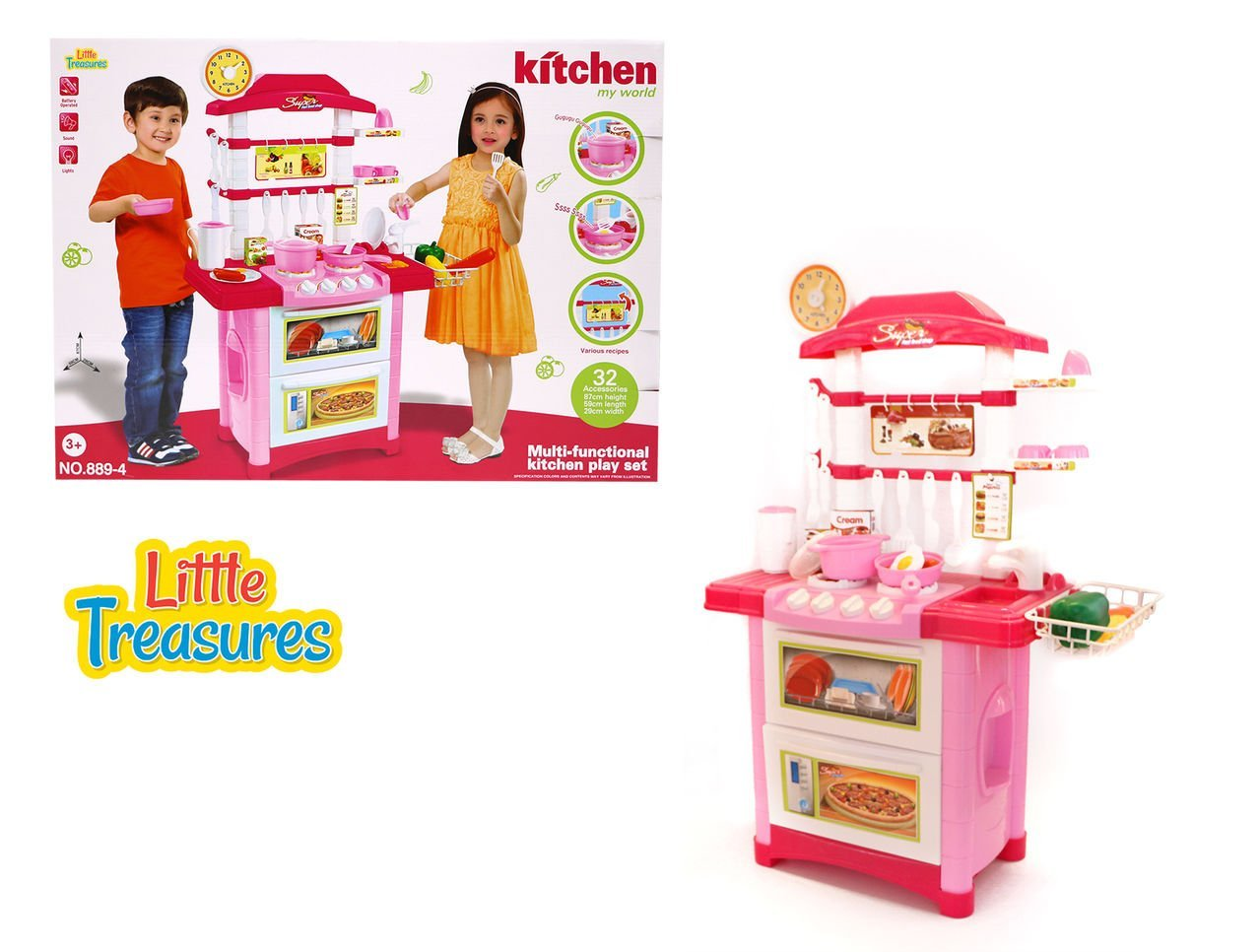 Buy Little Treasures Kitchen toy set for kids 3+ battery operated ...