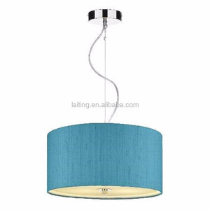 Blue Fabric Lampshade 220V Chandeliers & Pendant Lights Ceiling Lights