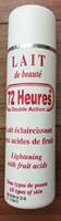 72 Heures Lait De Beaute Double Action Lightening Body Lotion ...