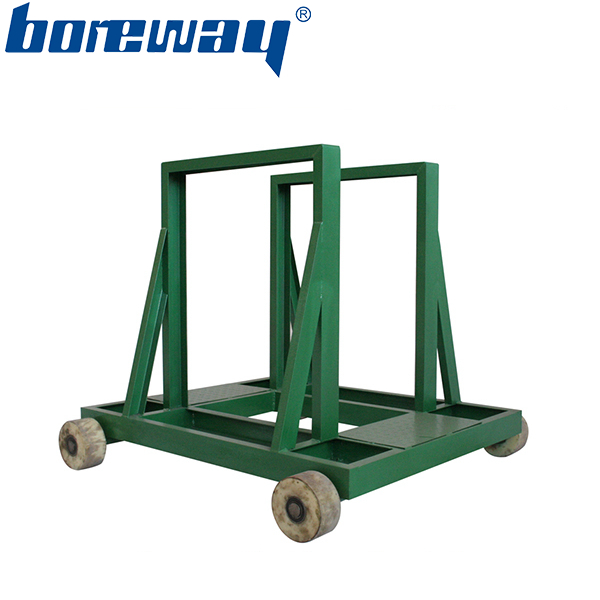 Electric quartz slabs transport dolly for stone warehouse