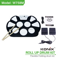 Konix Roll Up Drum Kit W758 in drum for children learning