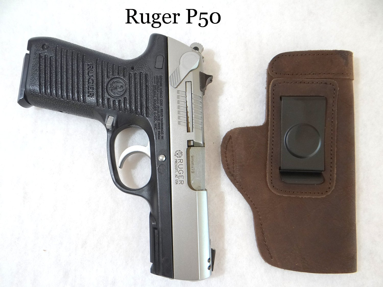 Glock, Springfield XD, Ruger, Beretta, S&W, Taurus CCW IWB rugged ULTRA-SOFT SUEDE LEATHER Gun Holster-Brown - RIGHT HANDED