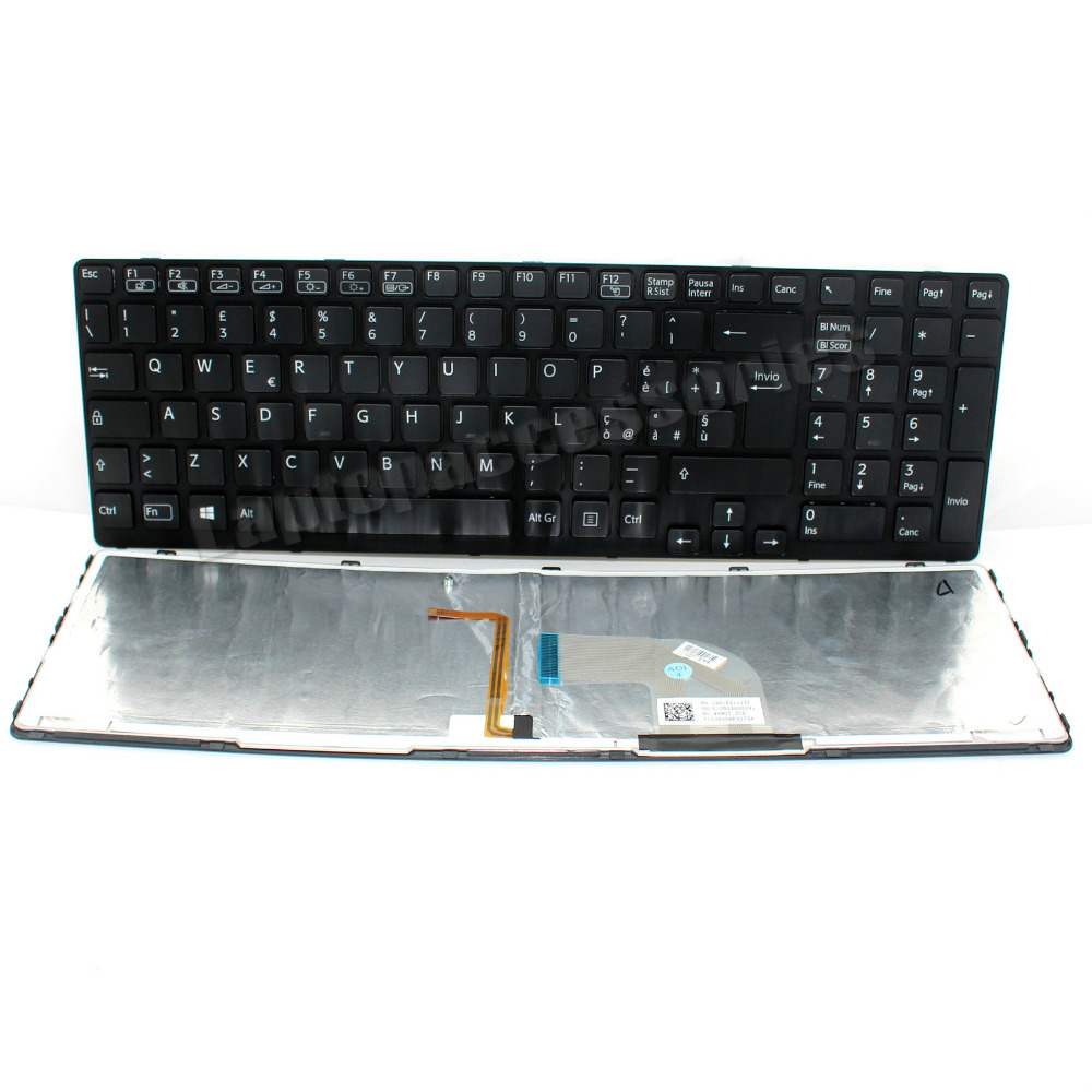 Original New for Sony SVF15215CLB SVF15215CLW SP Spanish White Keyboard