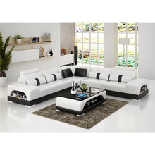 Simple features modern sectional leather sofa furniture