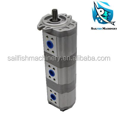 HITACHI 16.8+16.8+16.8 triple hydraulic pump pilot pump gear pump for HITACHI excavator