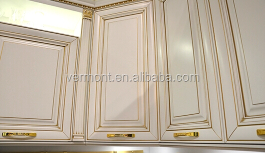 Design De Luxe Moderne Blanc Chêne En Bois Massif Armoires De Cuisine  Tiroirs