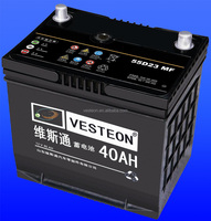 Dry charged car battery 12V 40ah