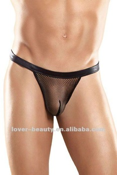 Wholesale Black Leather Sexy Net Mens Underwear - Buy Sexy Net ...