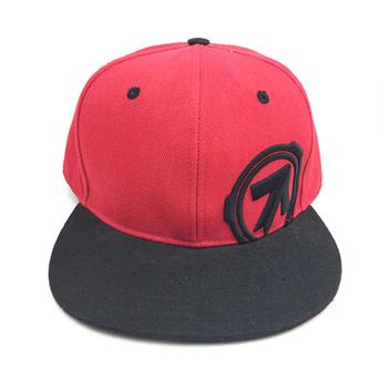 Custom Embroidery 2 Tone Black Snapback Caps Hats 2223643109c8