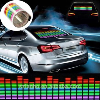 2016 New Car Music Rhythm Sticker Sound Actived Led Flash Light 70x16cm -  Buy Music Activated Led Disco Lights,Motion Flashing Led Light,Led Car Auto