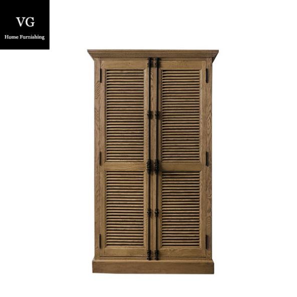Antique reclaimed wood furniture cabinet design