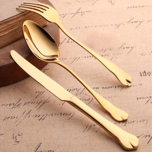 Factory Direct High Quality Full Gold Cutlery Set Metal Material Dinnerware set