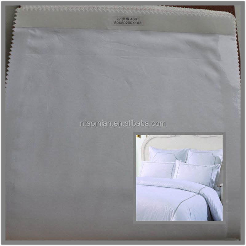 100% combed cotton hotel sheets project 80x80 400T fabric