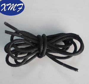 round wax coated cotton shoe laces