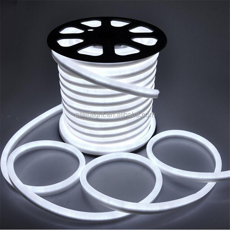 Ac110v 220v Led Neon Flex Light Led Rope Light Warm White/white ...