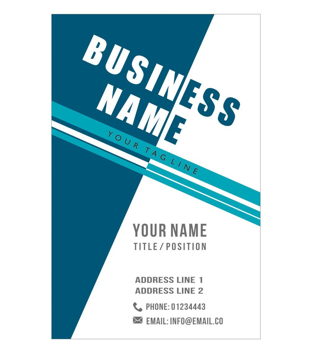 Design Your Own Unique Personalised Business Cards Custom Professional Company Visiting Card- Front