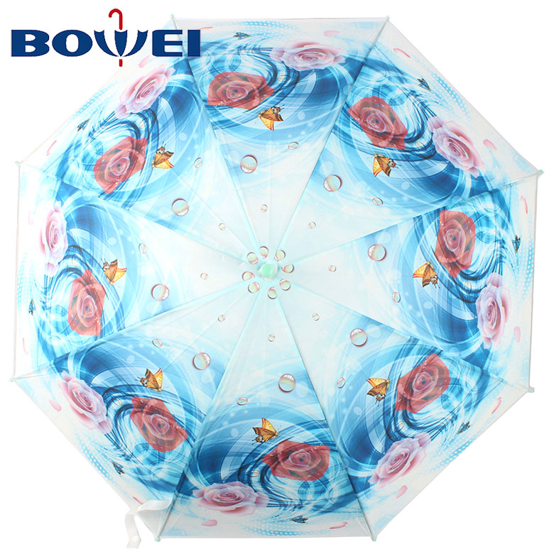 Factory supply new design flower print beautiful umbrellas for women