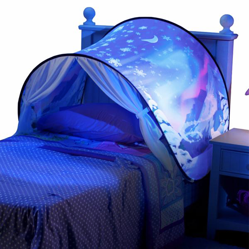 Kids Dream Tents With Light Baby Pop Up Bed Tent Unicorn Snowy Foldable Playhouse Comforting At Night Sleeping Outdoor Camp Tipi (13)