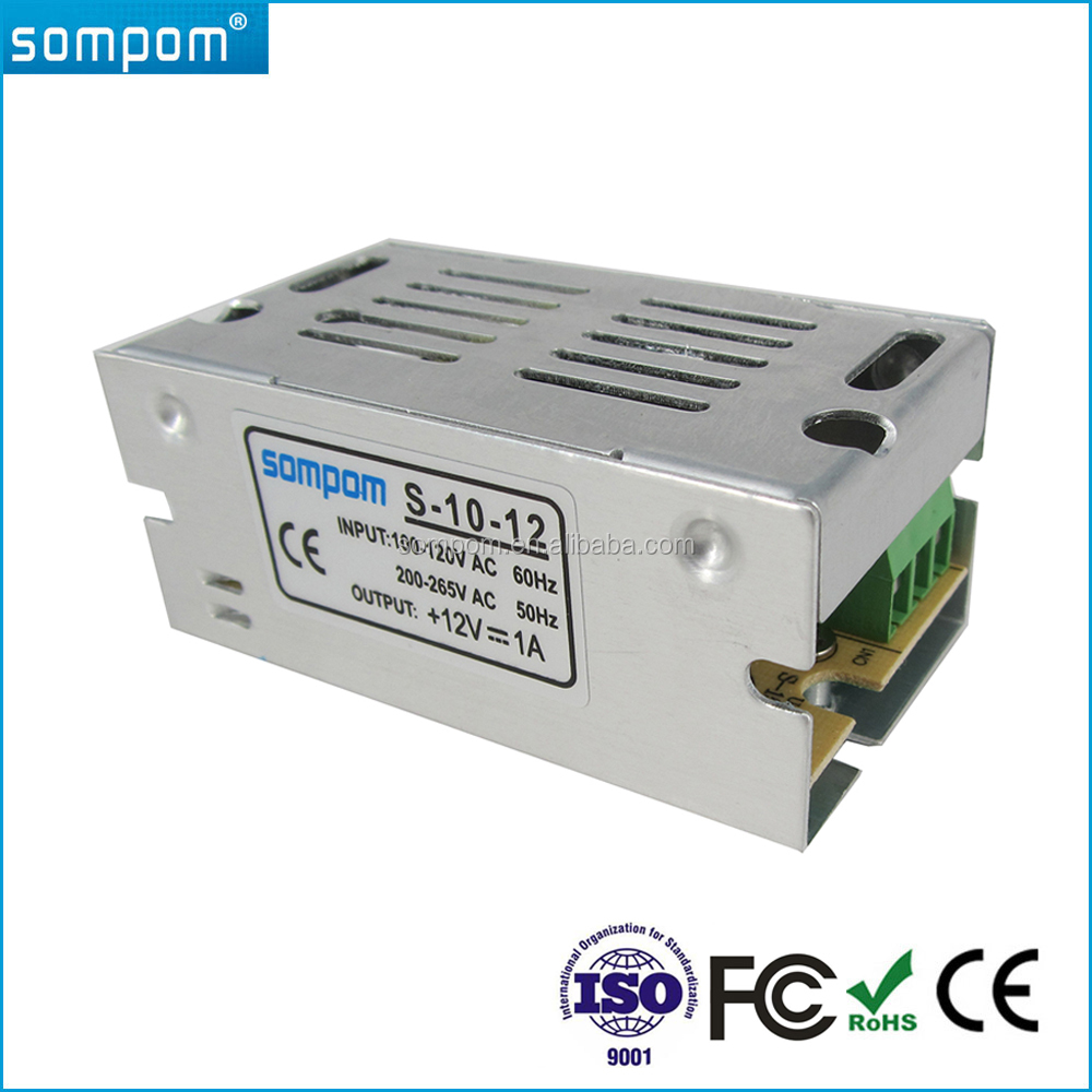 Sompom 12V 1A Led Transformer Driver 12 Volt 1Amp CCTV Camera Power Supply