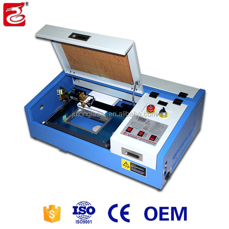 50 w 40 w co2 lasersnijmachine 3020 Draagbare mini laser graveermachine 40 w