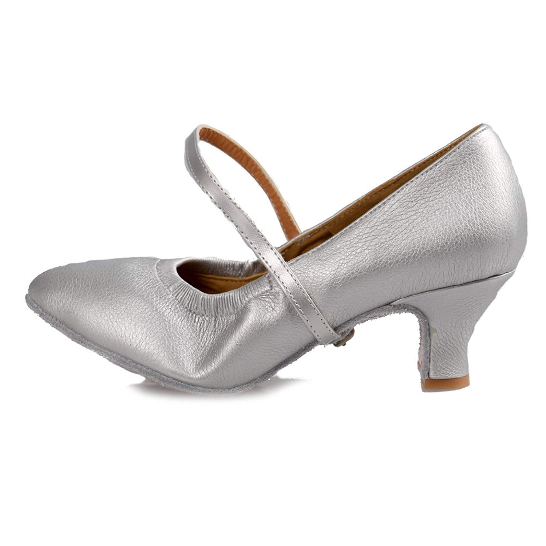 HIPPOSEUS Girls Latin Dance Shoes Ballroom Dancing Shoes,Model WZJ-TL-XGG