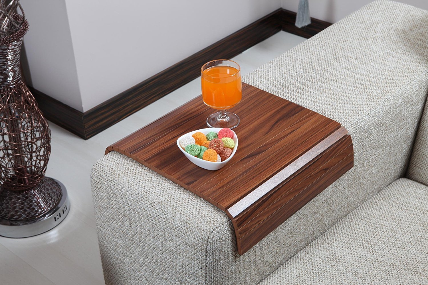 Get Quotations Sofa Tray Table Canadian Walnut Arm Armrest