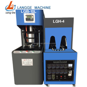Factory price for Semi automatic pet plastic bottle blow blowing molding machine